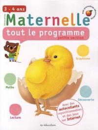 Maternelle tout le programme petite section : 3-4 ans