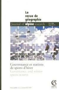 Revue de Géographie Alpine, Tome 94 - 1/2006 : Gouvernance et stations de sport d'hiver