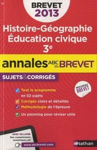 Annales Brevet 2013 Histoire/Geographie/Education Civique Corriges N27