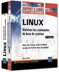 LINUX - Coffret de 2 livres : Maîtrisez les commandes de base du système [3ème édition]