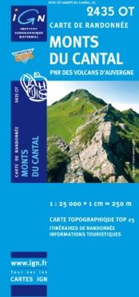 Monts du Cantal PNR des Volcans d'Auvergne GPS: IGN.2435OT
