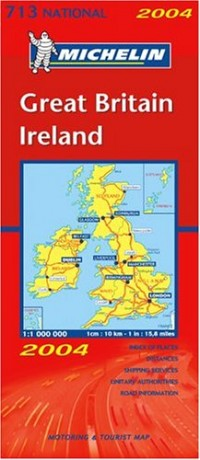 Carte routière : Grande-Bretagne, Irlande, N°11713