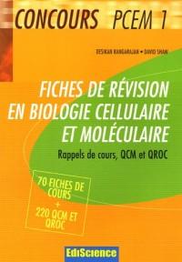 Fiches de révision en biologie cellulaire et moléculaire : Rappels de cours, QCM et QROC corrigés