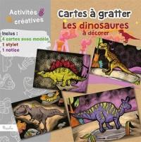 Cartes à gratter Les dinosaures à décorer : Avec 4 cartes avec modèle, 1 stylet, 1 notice