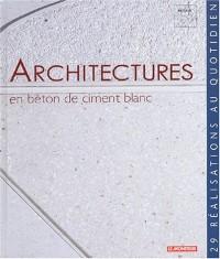 Architecture en béton de ciment blanc