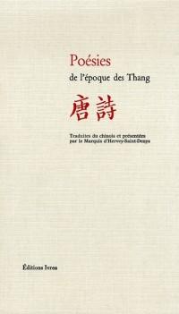Poésies de l'époque des Thang