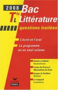 Bac littéraire Tle L