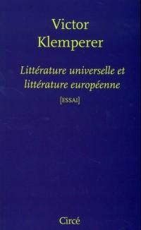 Litterature Universelle et Litterature Europeenne