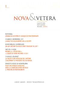 Nova & Vetera, N° 1/2006 :
