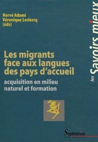 Migrants Face aux Langues des Pays d Accueil