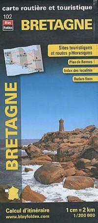 Bretagne, carte régionale, routière et touristique