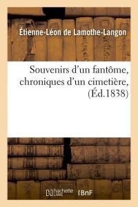 Souvenirs d un Fantôme  ed 1838