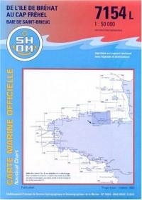 Carte marine : De l'île de Bréhat au Cap Fréhel - Baie de Saint-Brieuc