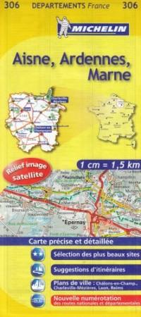 Aisne, Ardennes, Marne : 1/150 000
