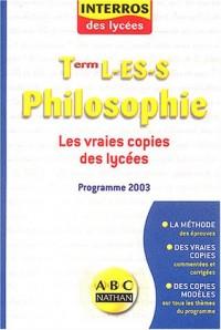 Philosophie - Terminale