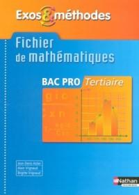 Fichier de mathématiques Bac Pro Tertiaire