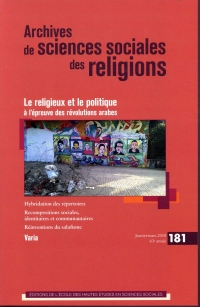 Archives de Sciences Sociales des Religions 181