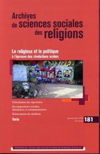 Archives de Sciences Sociales des Religions 181