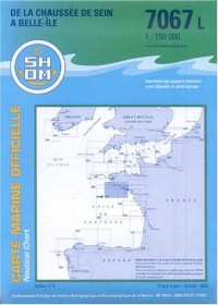 Carte marine : Chaussée de Sein à Belle-Île-en-Mer