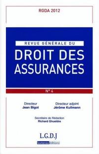 Revue Generale de Droit des Assurances Rgda N 4-2012