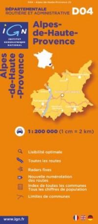 D04 Alpes-de-Haute-Provence 1/200.000