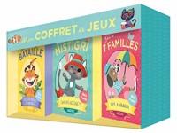 Cartes à jouer Auzou - Coffret 3 jeux (7 familles, Mistigri et Bataille)