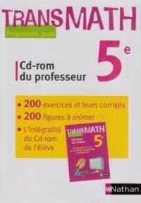 TRANSMATH 5E CD-ROM DU PROFESSEUR 2006 Livre scolaire