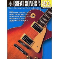 Great Songs Of The 80s For Guitar. Partitions pour Tablature Guitare