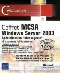 Pack en 4 volumes : MCSA Windows Server 2003 : Spécialisation