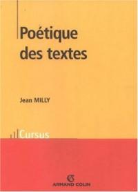 Poétique des textes