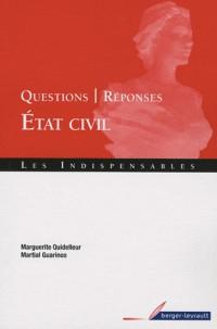 Questions-réponses Etat civil