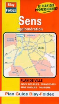 Plan de ville : Sens (avec un index)