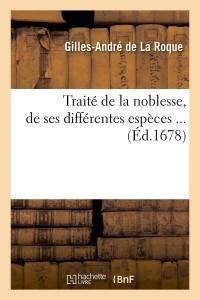 Traite de la Noblesse  ed 1678