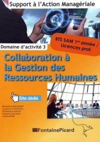 Domaine d'activité 3 Collaboration à la gestion des ressources humaines BTS SAM 1re année / licences professionnelles