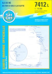 Carte marine : Île de Ré, du Fier d'Ars à la Flotte