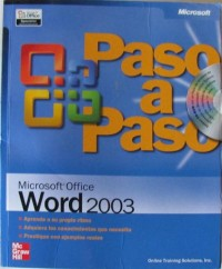 Microsoft office word 2003 paso a paso