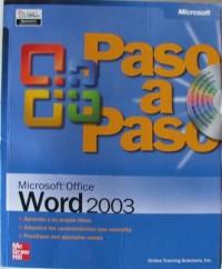 Microsoft office word 2003 paso a paso