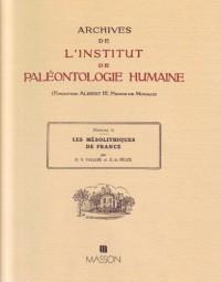 Les Mésolithiques de France