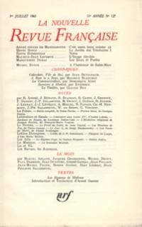 La N.R.F., numéro 127, juillet 1963
