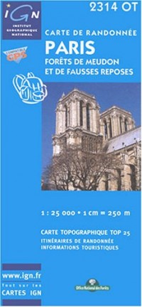 Carte de randonnée : Paris