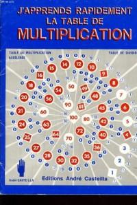 J'apprends rapidement la table de multiplication