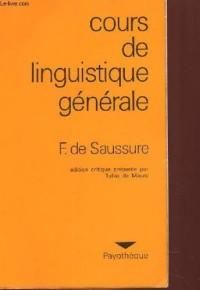 Cours de linguistique generale