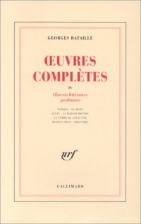 Oeuvres complètes, tome 4