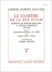 Le Cloître de la rue d'Ulm (livre non massicoté), cahier 4