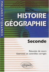Histoire Geographie Seconde Resume De Cours Exercices Et Controles Corriges