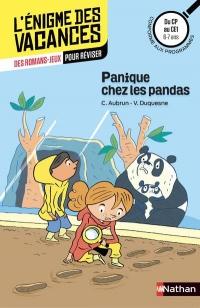 Panique chez les pandas, du CP au CE1 - Cahier de vacances 6/7 ans