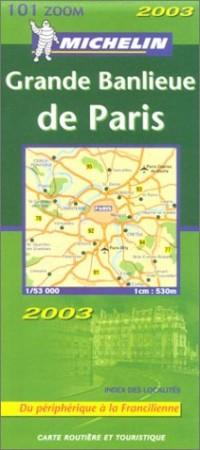 Carte routière : Grande Banlieue de Paris, N° 11101