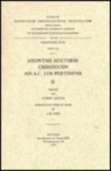 Anonymi Auctoris Chronincon Ad A.c. 1234 Pertinens, II. Syr. 154.