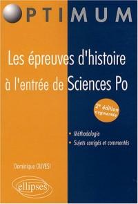 Les épreuves d'histoire à l'entrée de Sciences Po