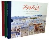 Paris : Coffret 3 livres : Toits de Paris ; Jardins de Paris ; Paris